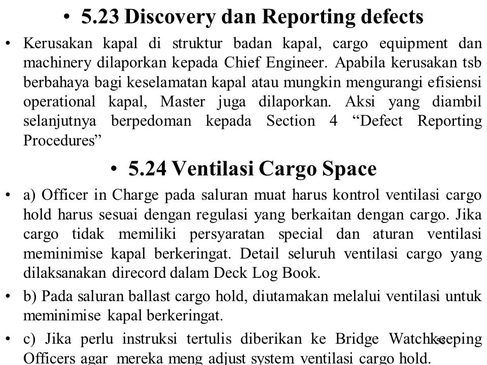 5.23 Discovery dan Reporting defects