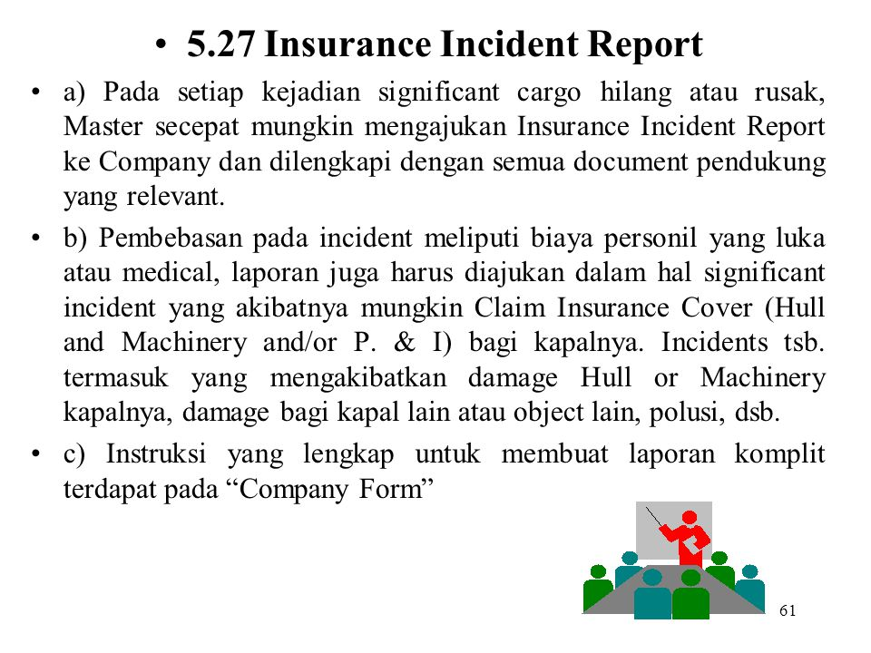 5.27 Insurance Incident Report