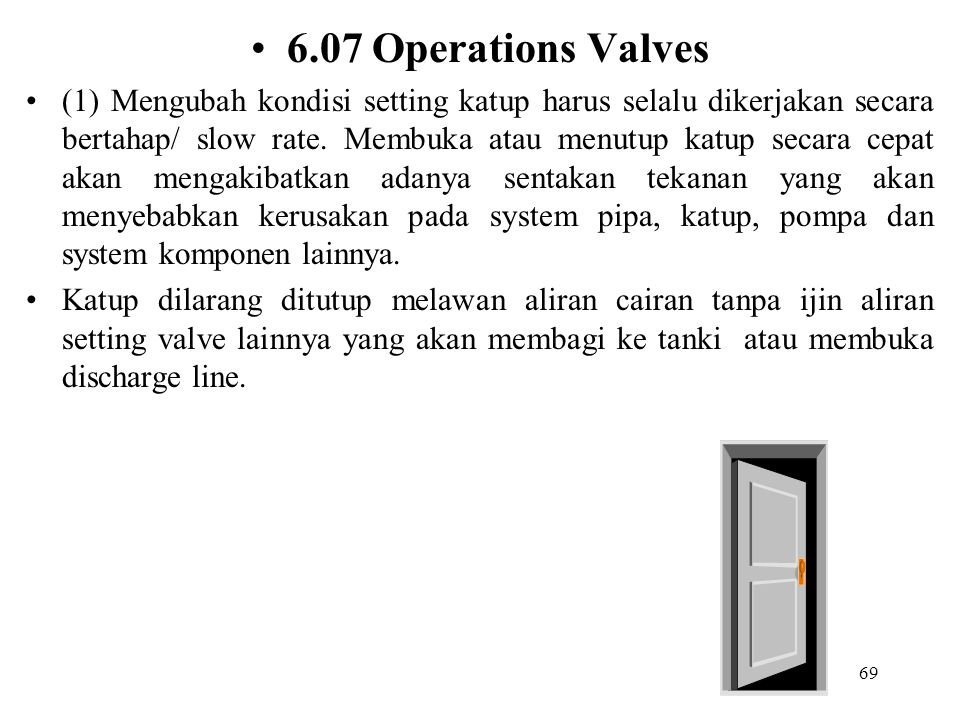 6.07 Operations Valves