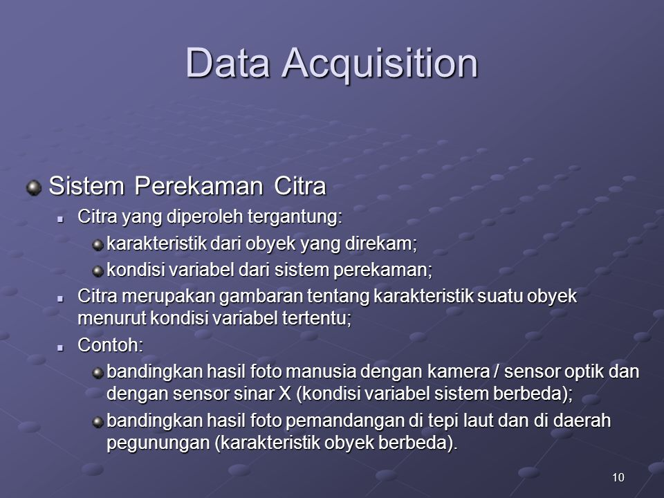 Data Acquisition Sistem Perekaman Citra