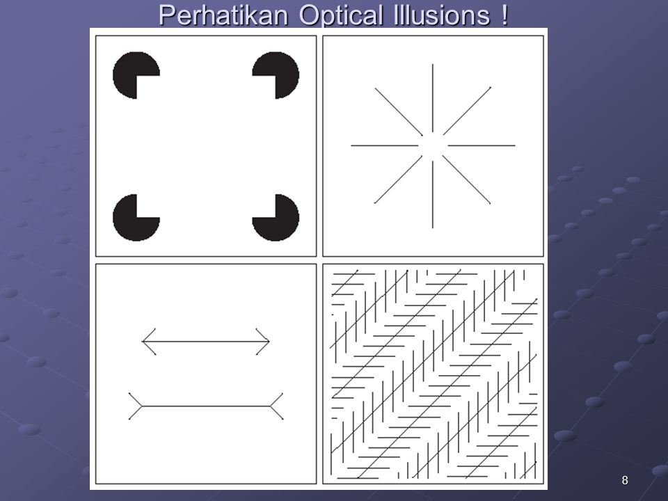 Perhatikan Optical Illusions !