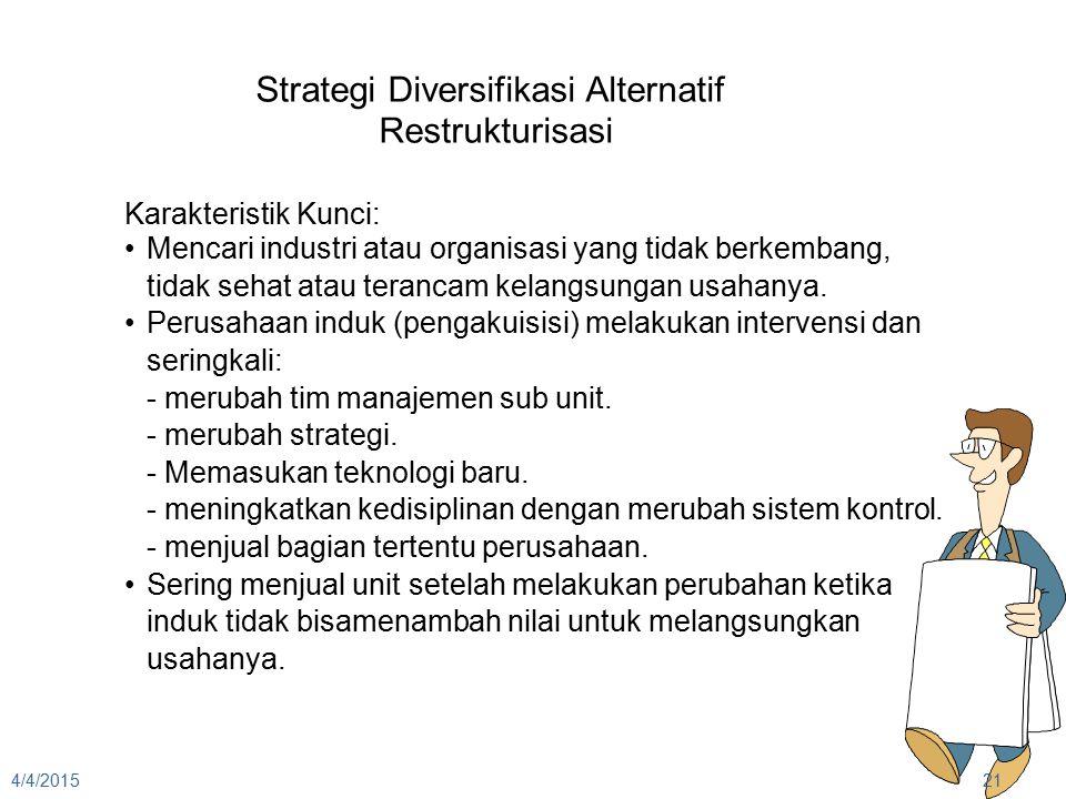 STRATEGI PERUSAHAAN (DIVERSIFIKASI DAN PERUSAHAAN MULTIBUSINESS)
