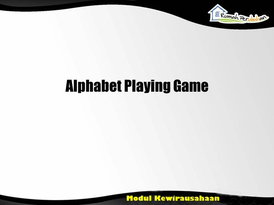 Alphabet Playing Game