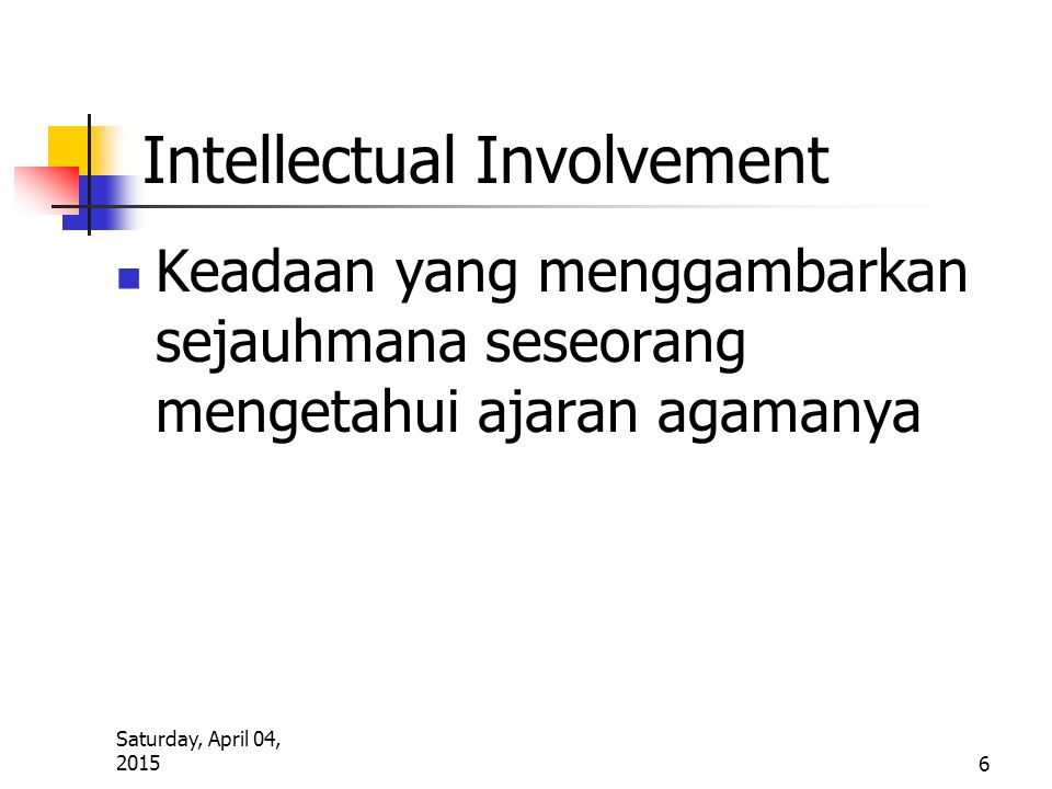Intellectual Involvement