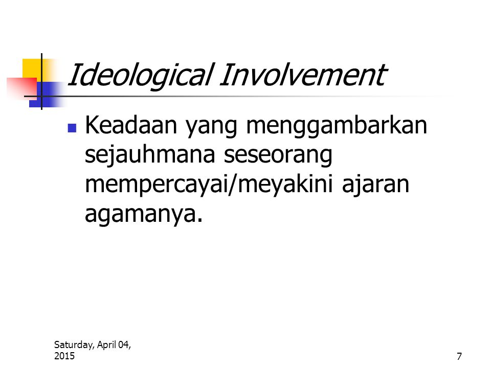 Ideological Involvement
