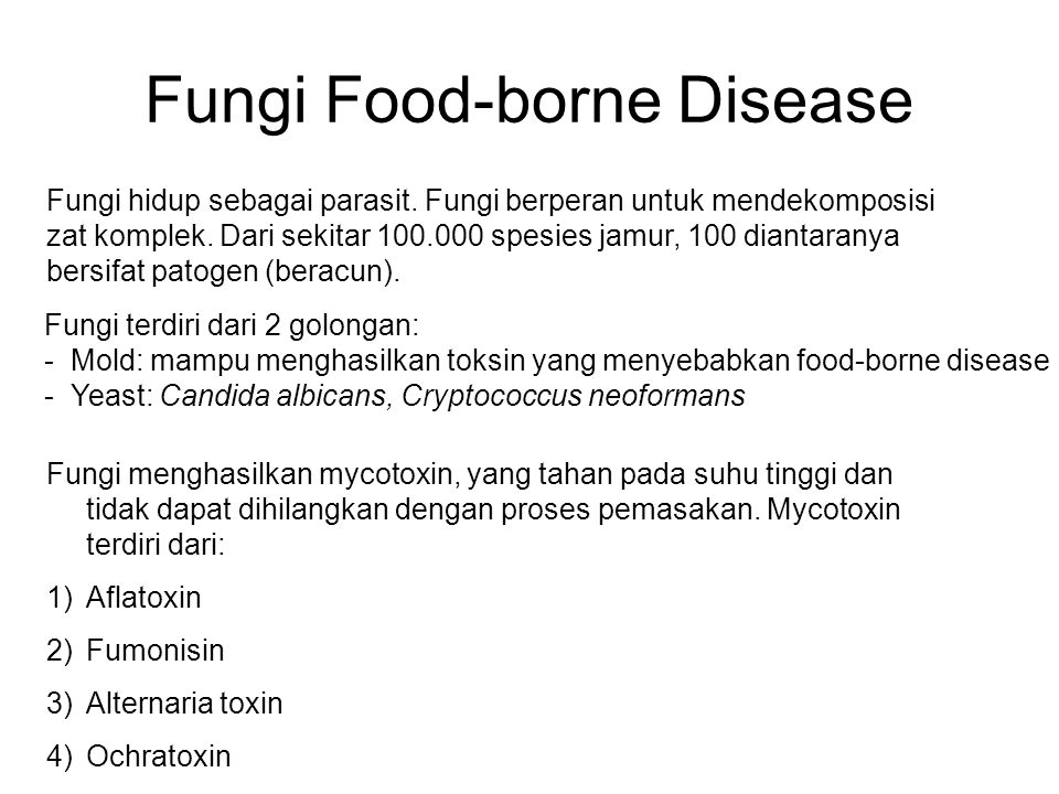 Fungi Food-borne Disease