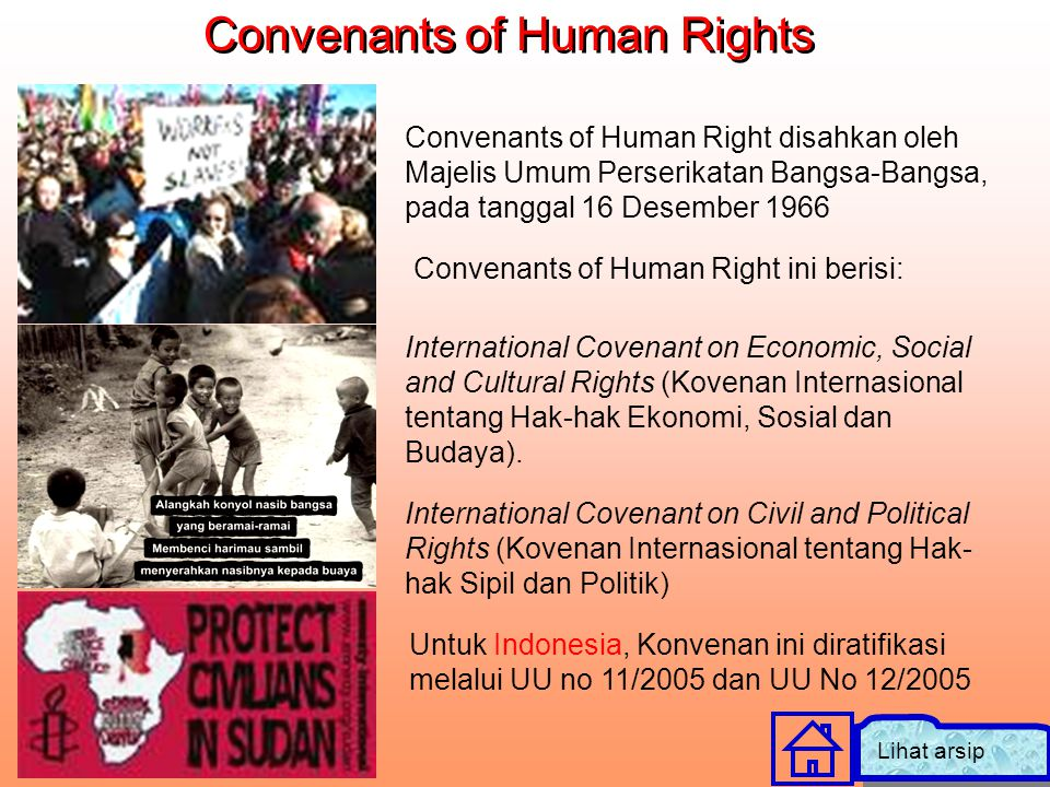 Convenants of Human Rights