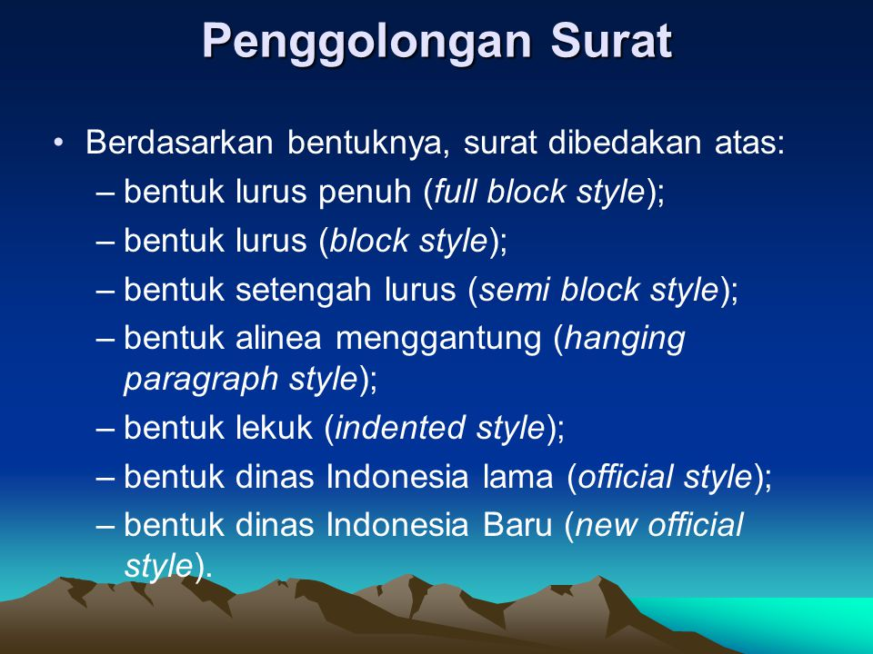 Surat Menyurat Dinas Ppt Download