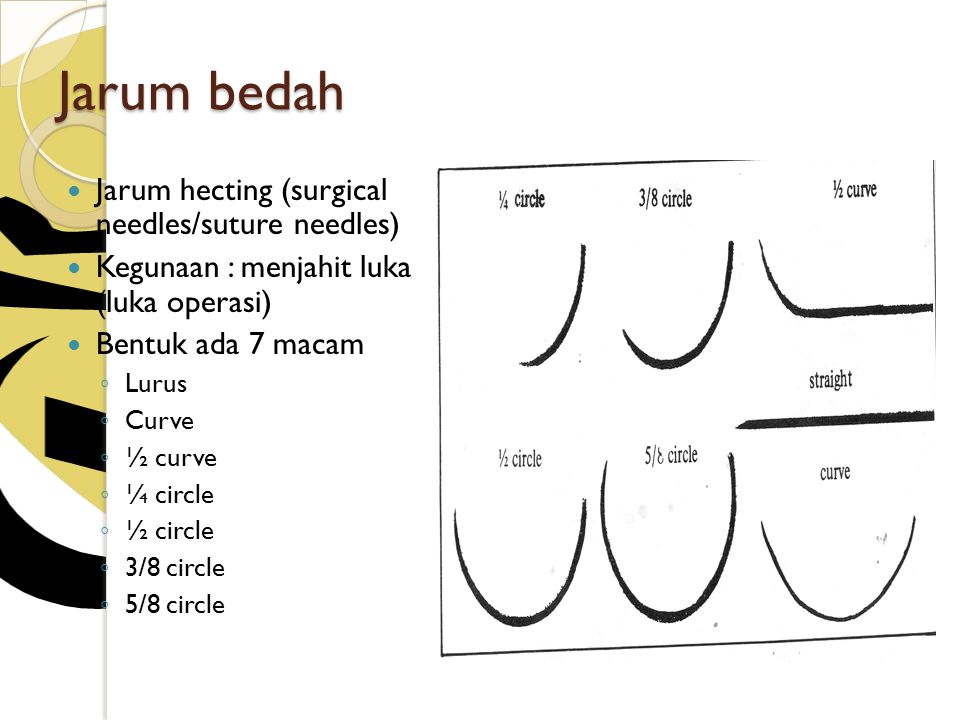 Jarum bedah Jarum hecting (surgical needles/suture needles)