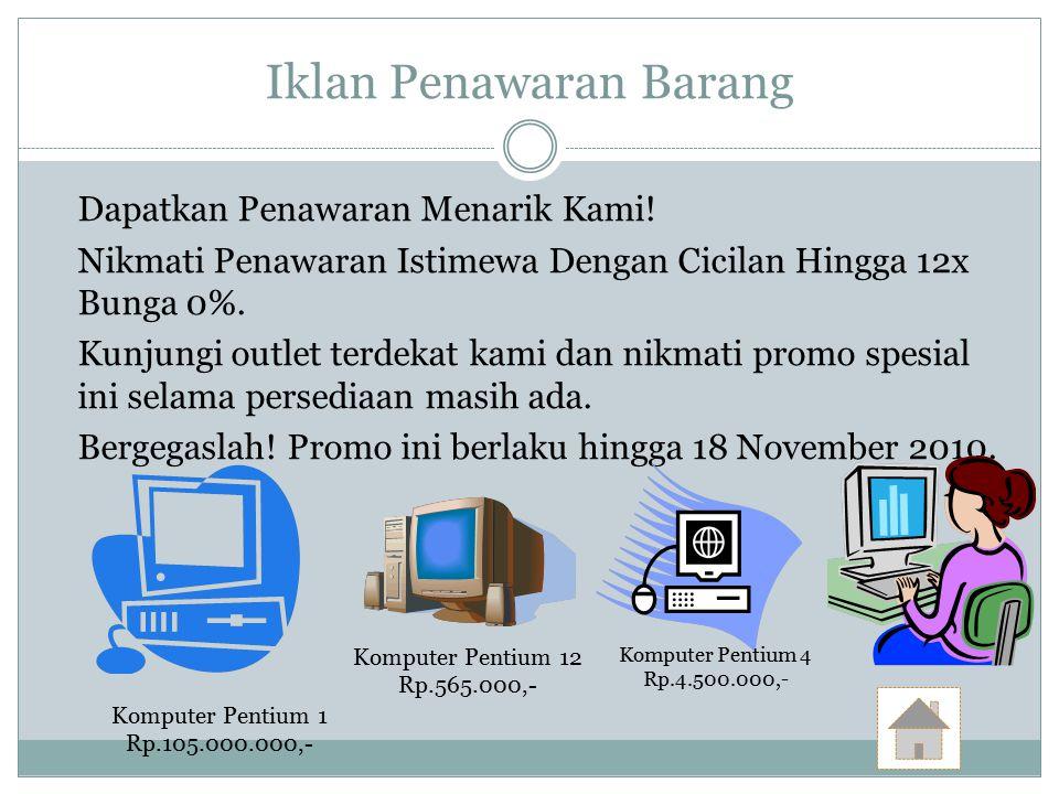 Contoh Contoh Iklan Lowongan Pekerjaan Iklan Baris Ppt Download