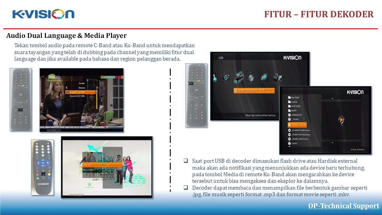 FITUR – FITUR DEKODER Audio Dual Language & Media Player