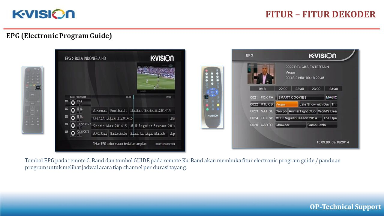 FITUR – FITUR DEKODER EPG (Electronic Program Guide)
