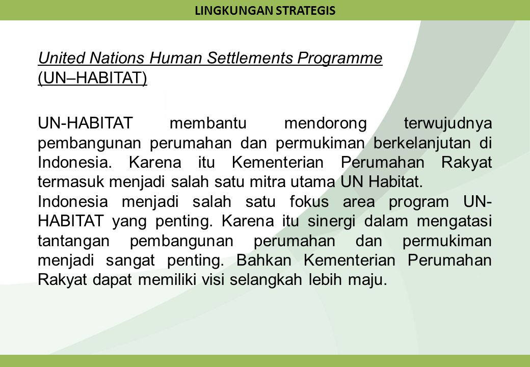 United Nations Human Settlements Programme (UN–HABITAT)