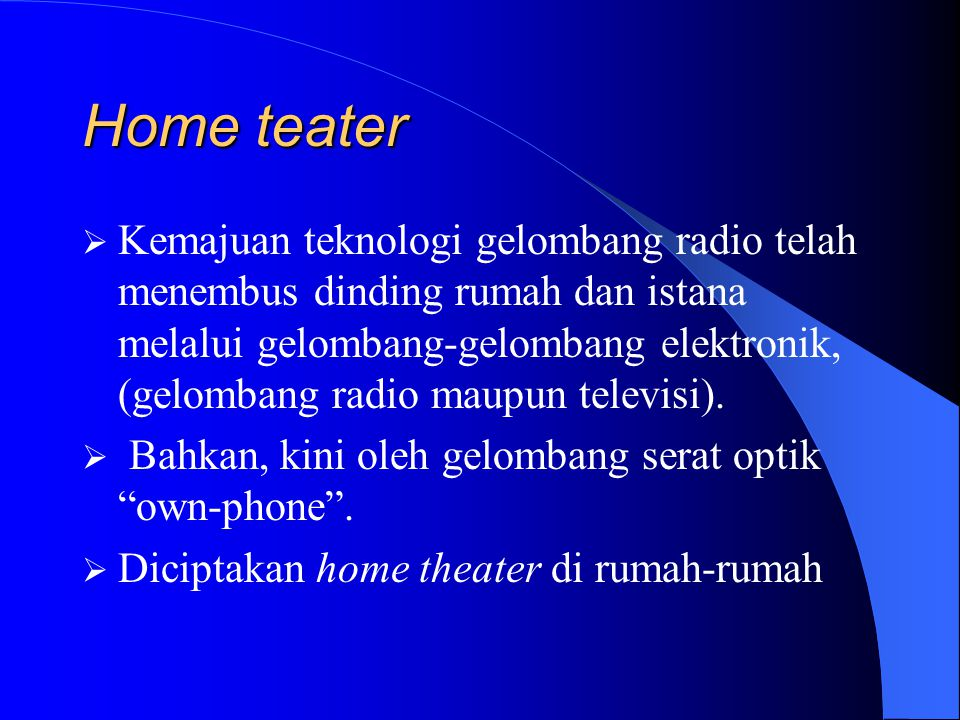 Home teater