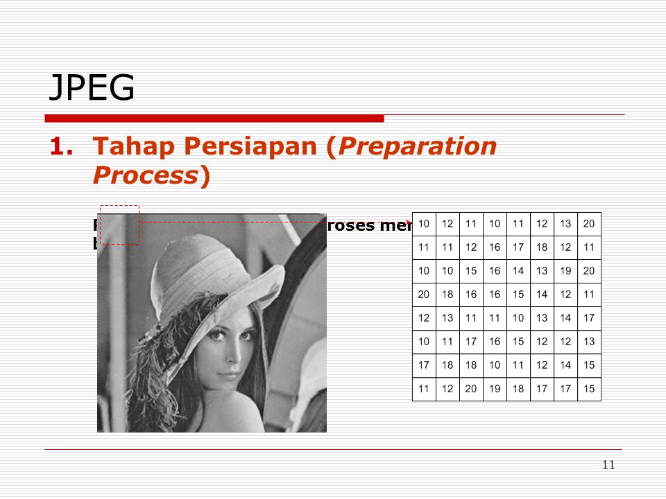 JPEG Tahap Persiapan (Preparation Process)