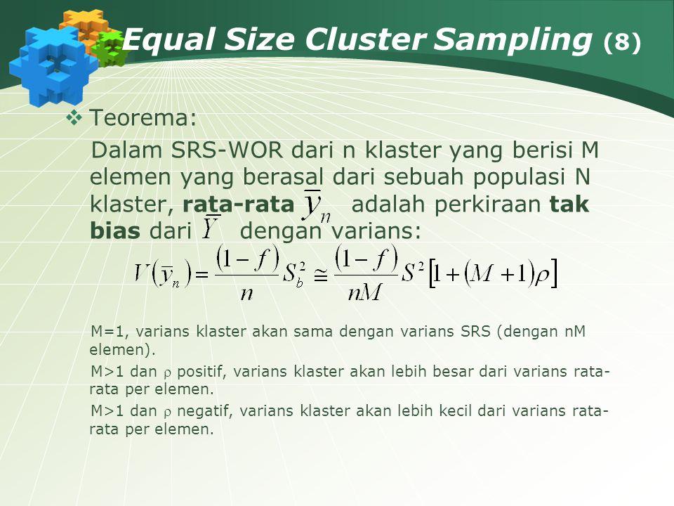 46803e94c1fcfb 22 Equal Size Cluster Sampling (8)