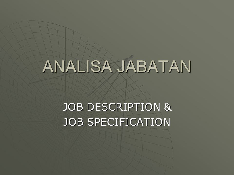 Job Description Job Specification Ppt Download
