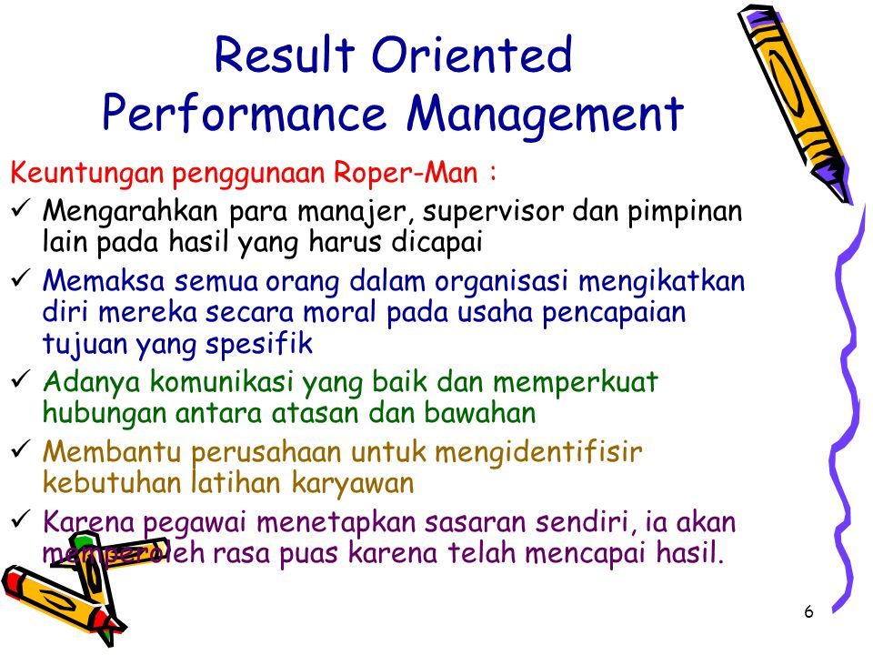 Result Oriented Performance Management