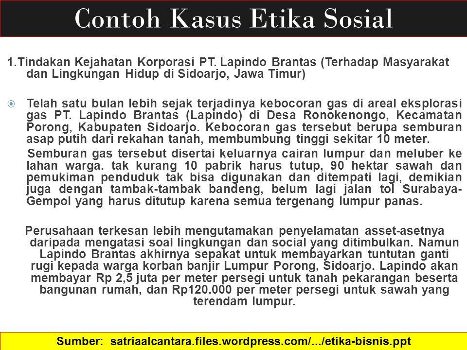 Sumber Satriaalcantara Files Wordpress Com Etika Bisnis Ppt