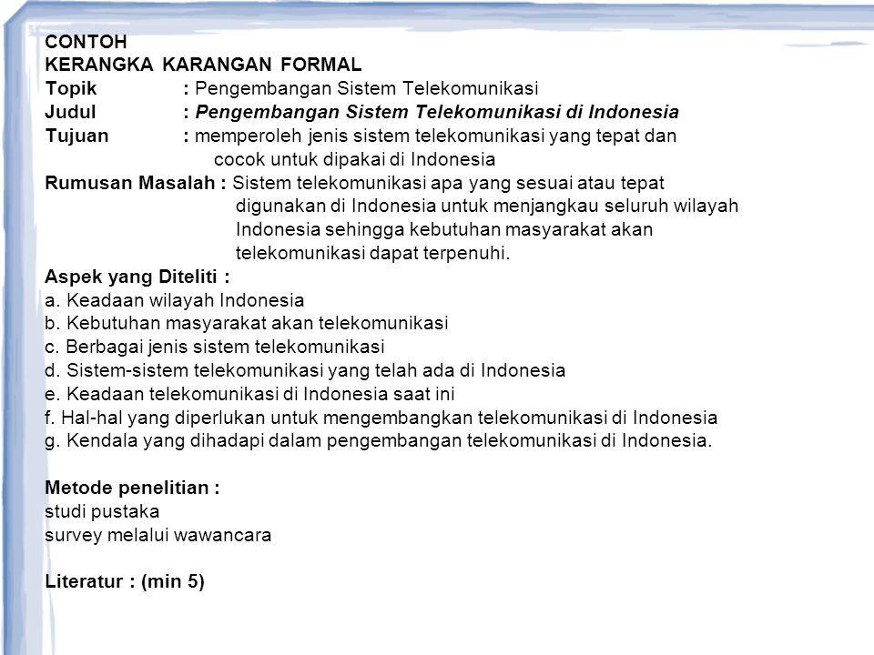 Contoh Format Kk Formal Ppt Download