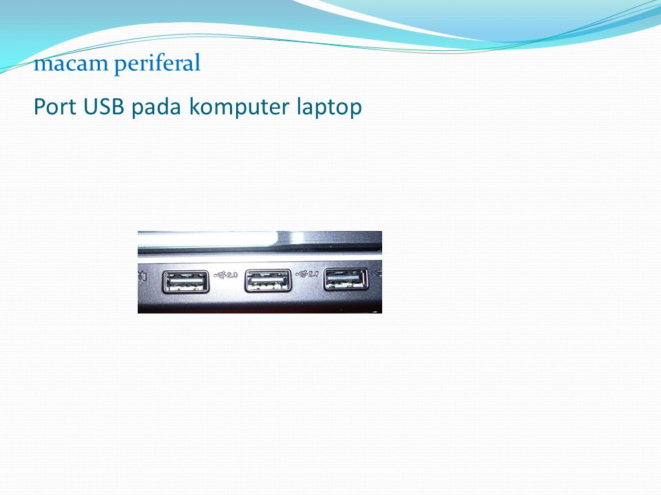 Port USB pada komputer laptop