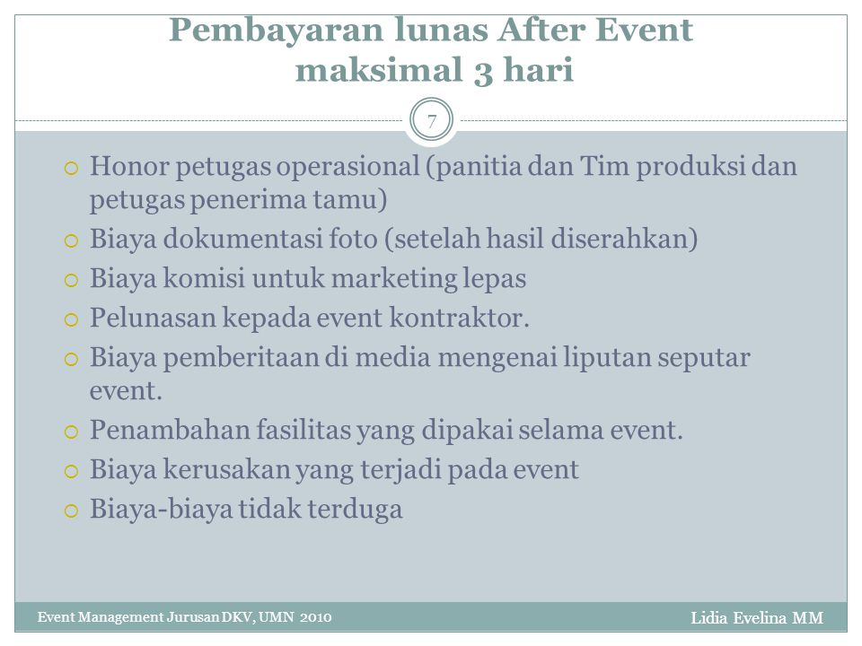 Anggaran Event Management - ppt download 46a91cf3c9