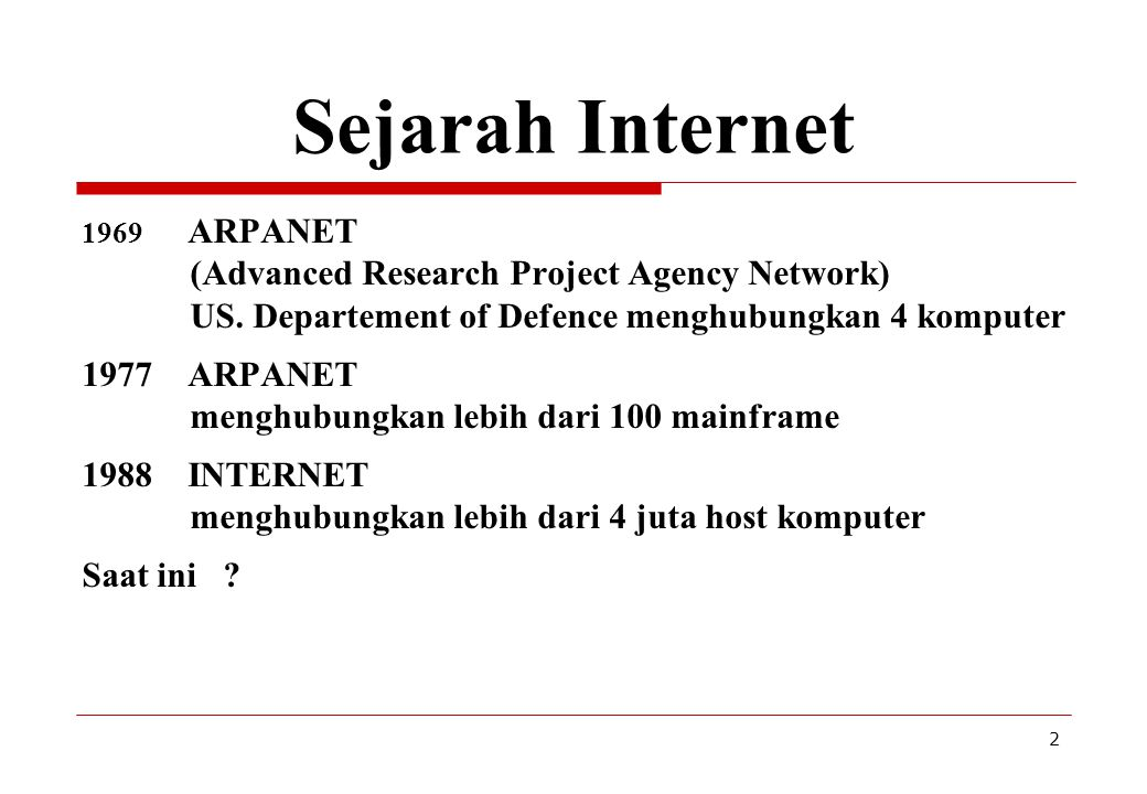 Sejarah Internet (Advanced Research Project Agency Network)