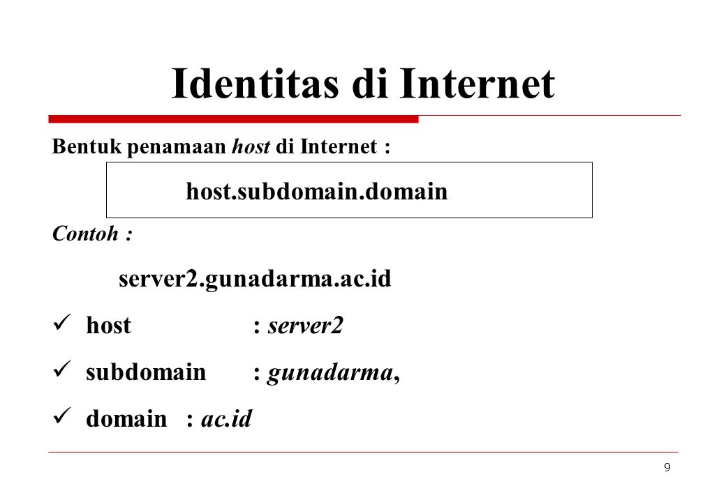 Identitas di Internet server2.gunadarma.ac.id host : server2