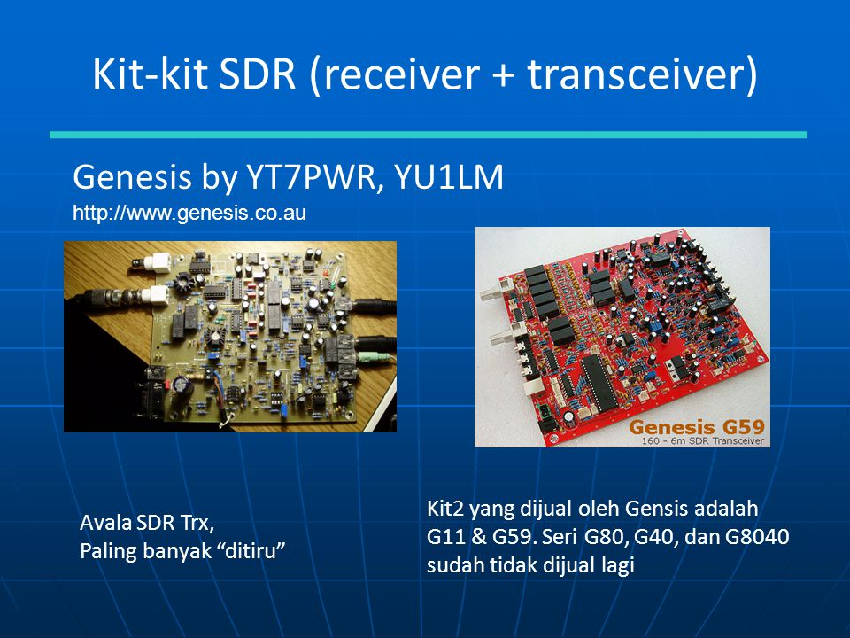 Software Defined Radio (SDR): Kit dan Hombrew - ppt download