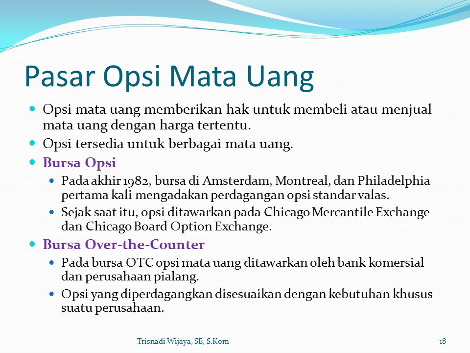 Materi 6 FUTURE DAN OPSI VALUTA ASING PDF Free Download