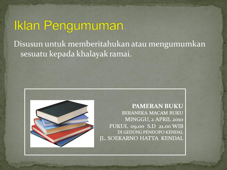 Poster Slogan Dan Iklan Ppt Download