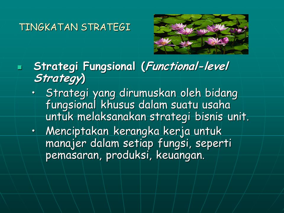 Strategi Fungsional (Functional-level Strategy)