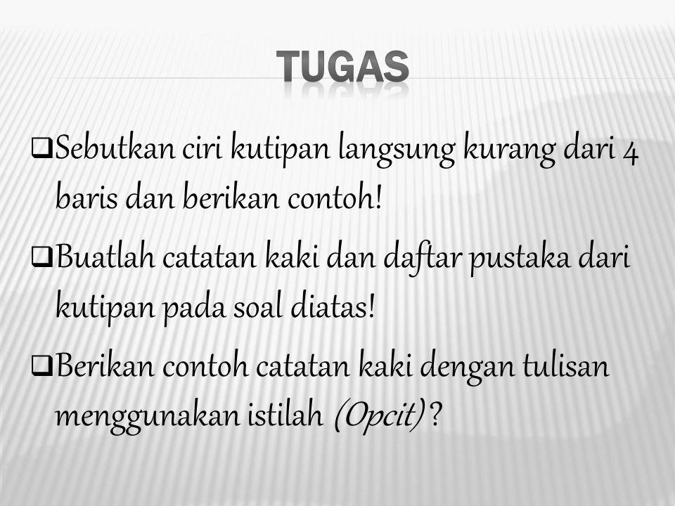 Catatan Kaki Dan Daftar Pustaka Bahasa Indonesia Ppt Download