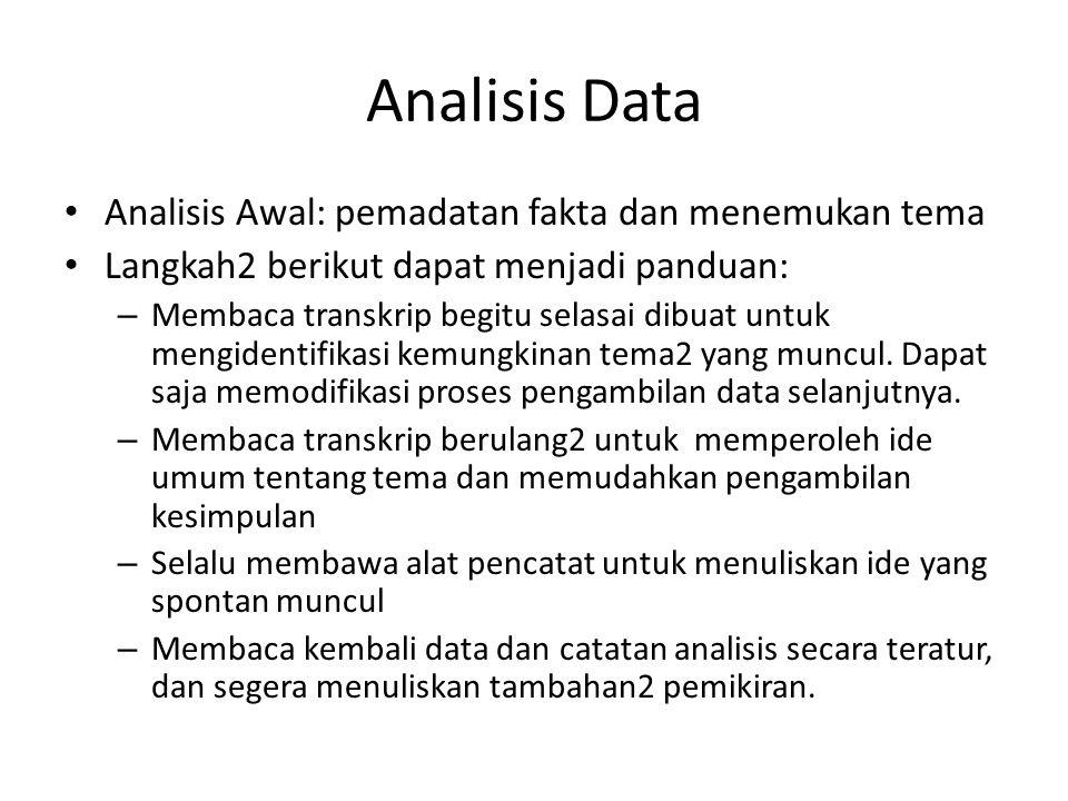 Analisis Data Penulisan Laporan Ppt Download