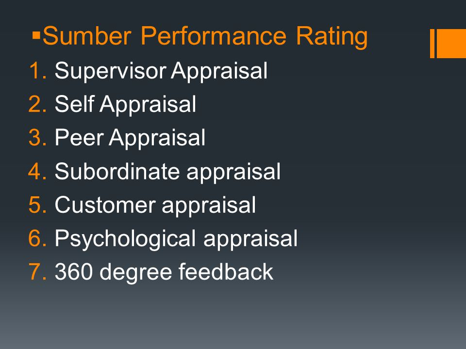 Sumber Performance Rating