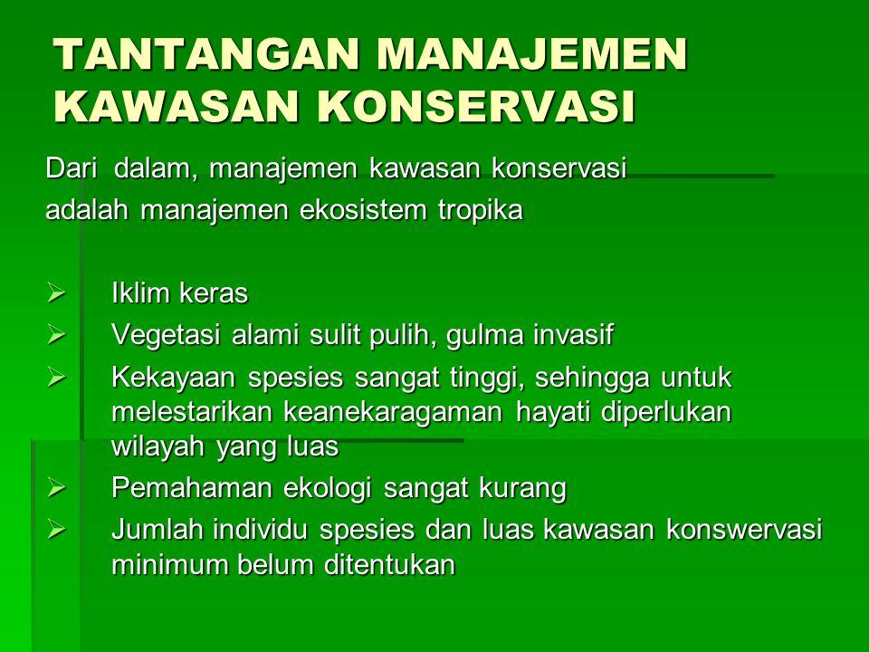 Tujuan manajemen konservasi