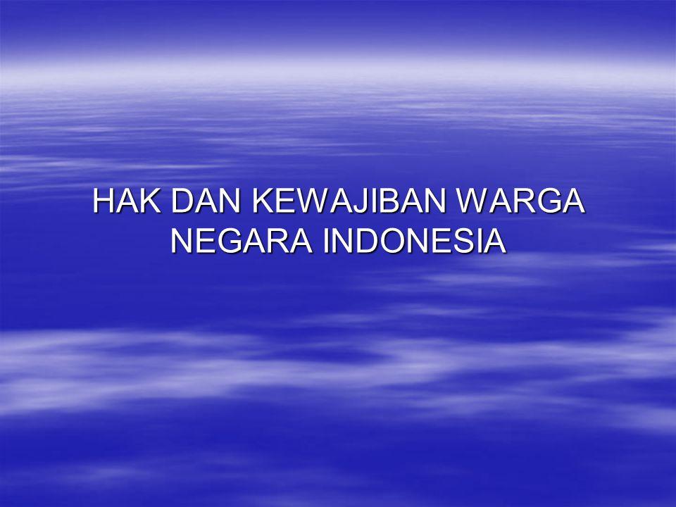Hak Dan Kewajiban Warga Negara Indonesia Ppt Download