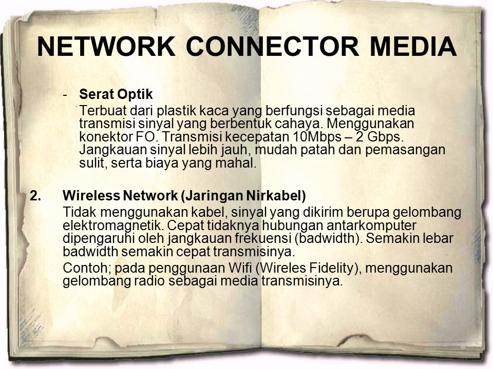 NETWORK CONNECTOR MEDIA