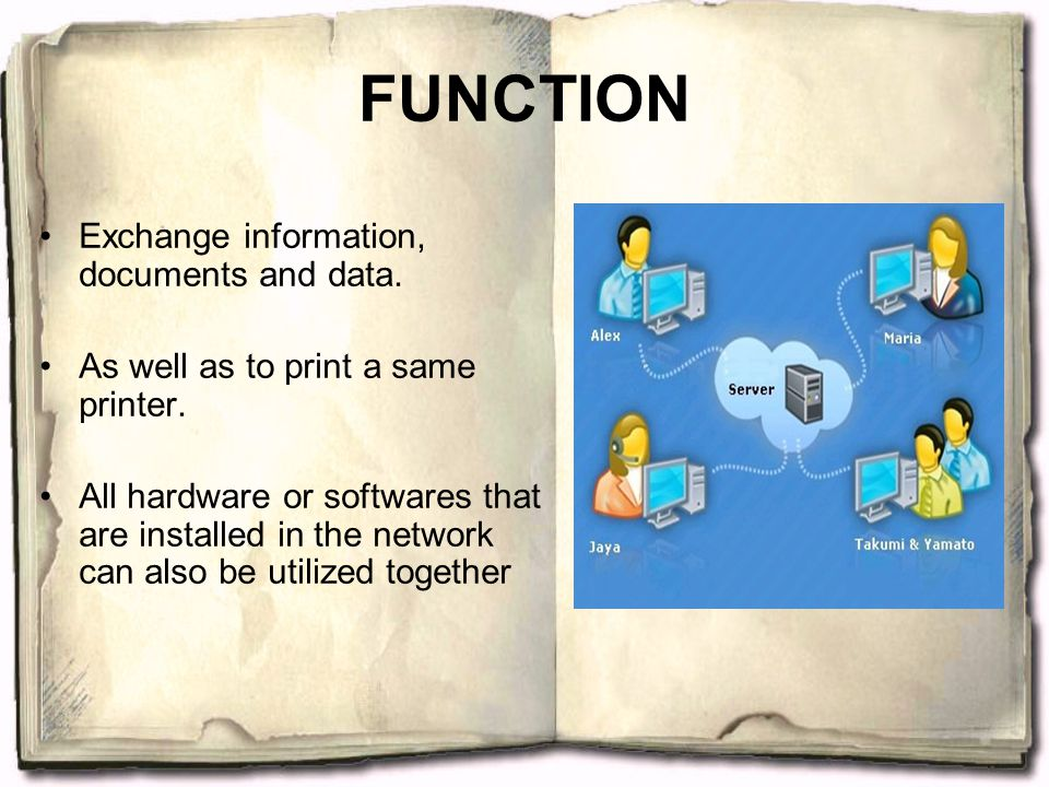 FUNCTION Exchange information, documents and data.