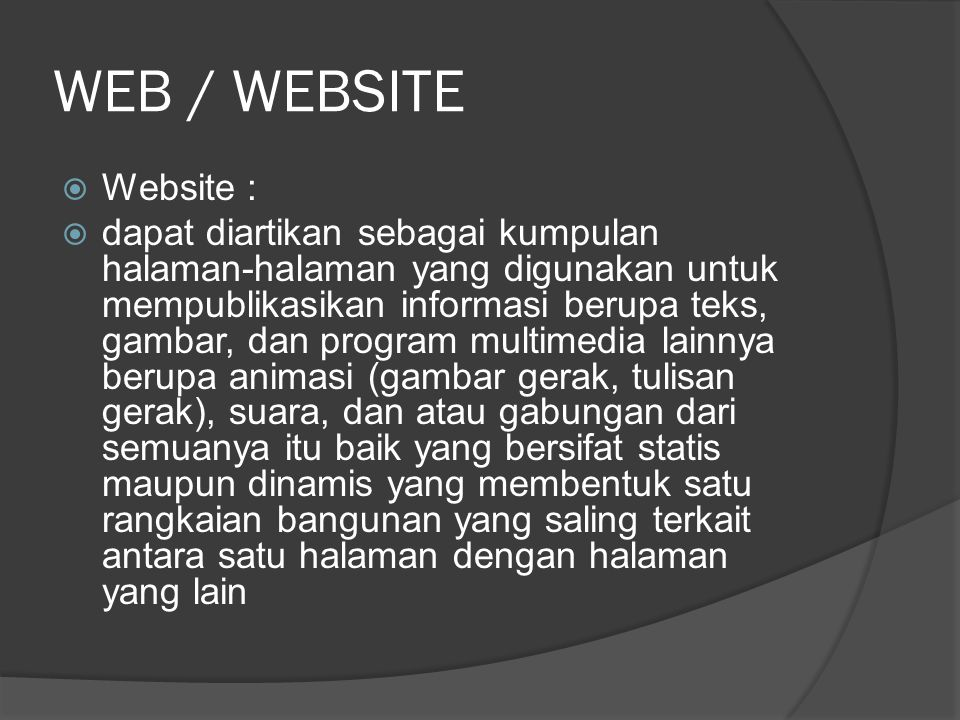 WEB / WEBSITE Website :