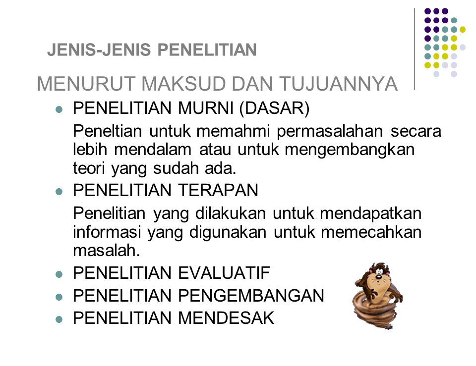 Jenis Jenis Penelitian Ppt Download