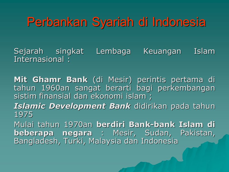 Perbankan Syariah Di Indonesia Ppt Download