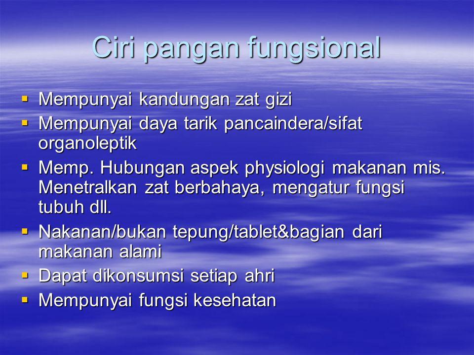 Fungsional Food Pangan Fungsional Ppt Download