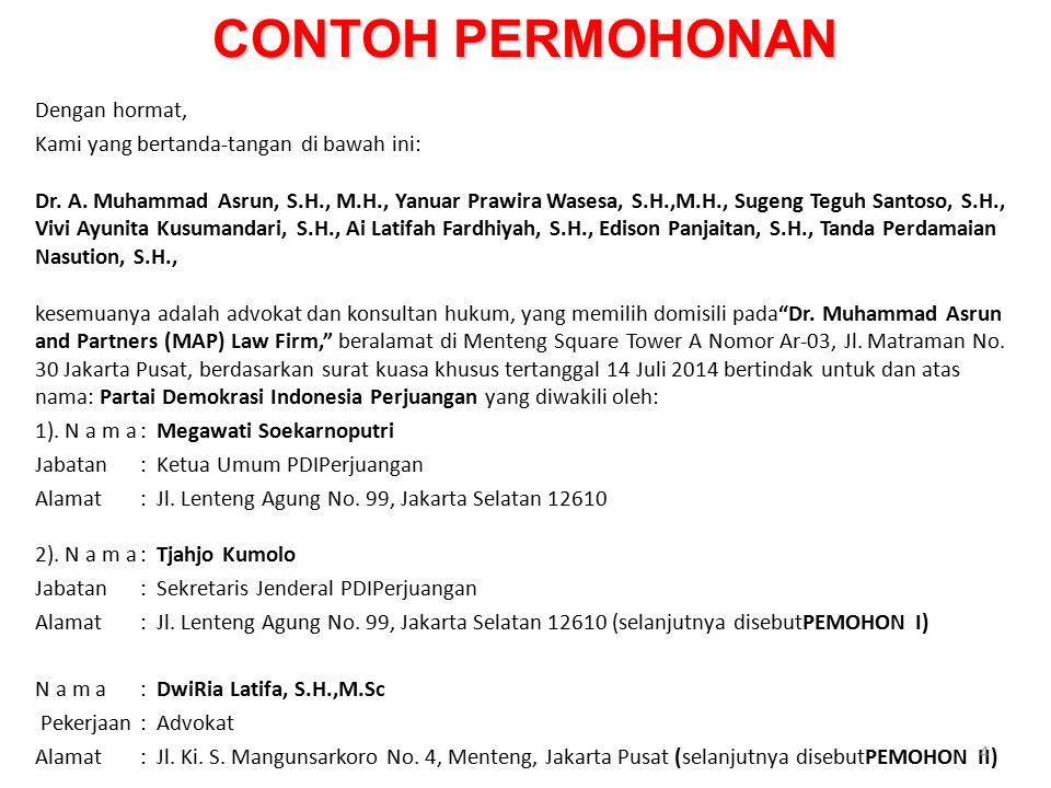 Praktek Hukum Acara Mahkamah Konstitusi Ppt Download