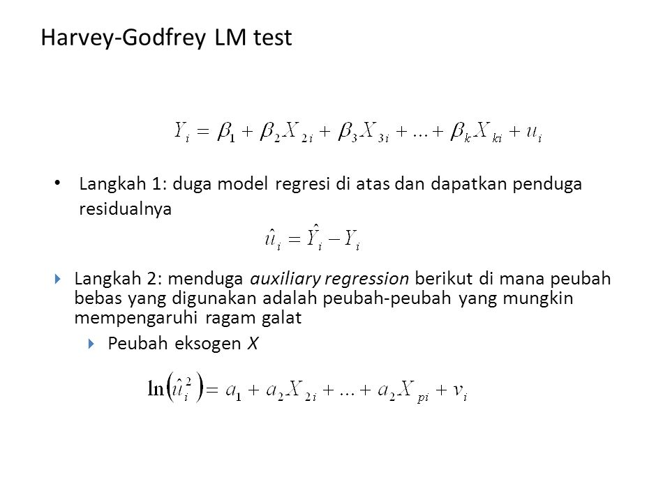 Harvey-Godfrey LM test