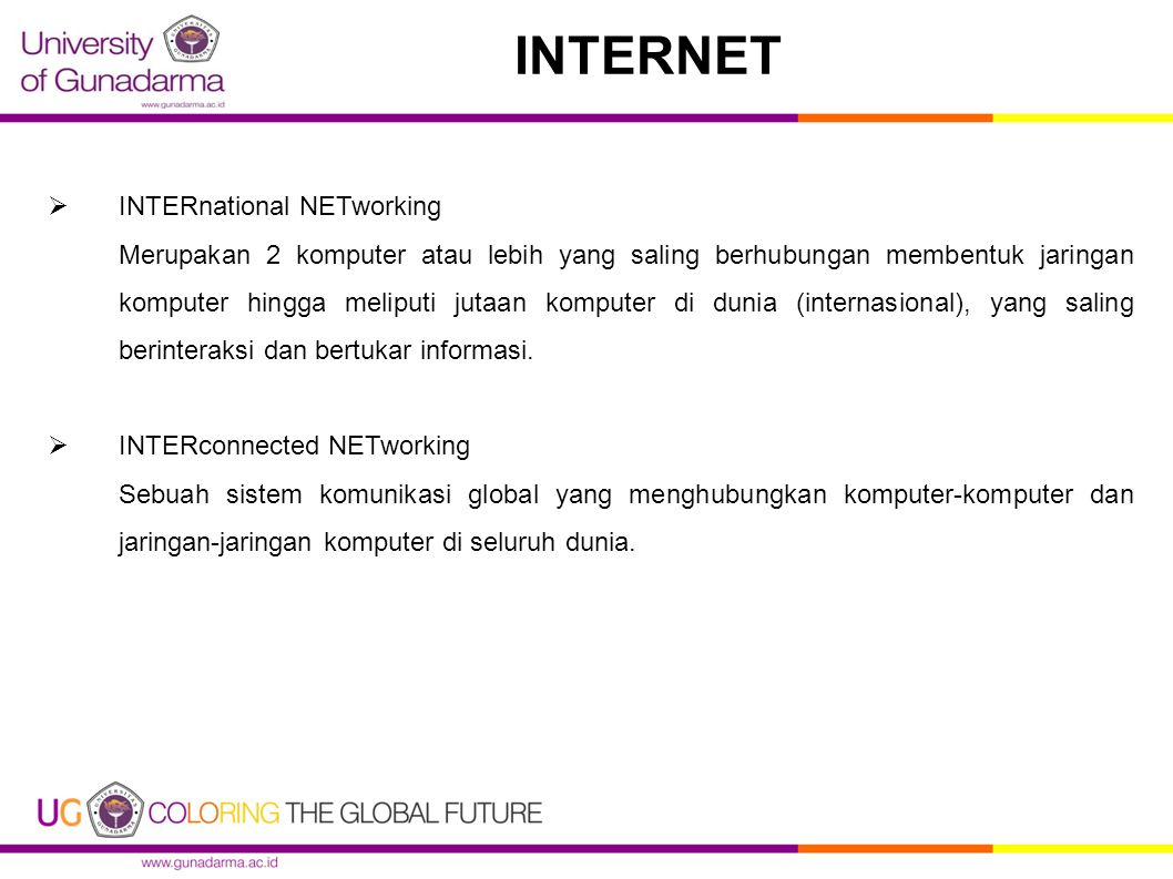 INTERNET INTERnational NETworking