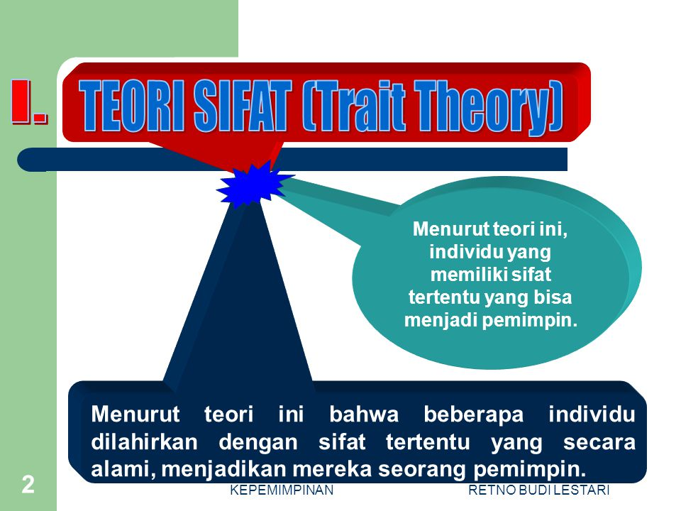TEORI SIFAT (Trait Theory)