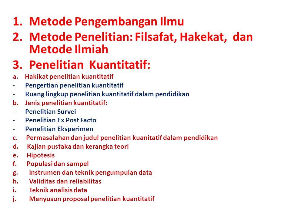 Pokok Bahasan Mata Kuliah Metode Penelitian Pendidikan Bahasa Jawa