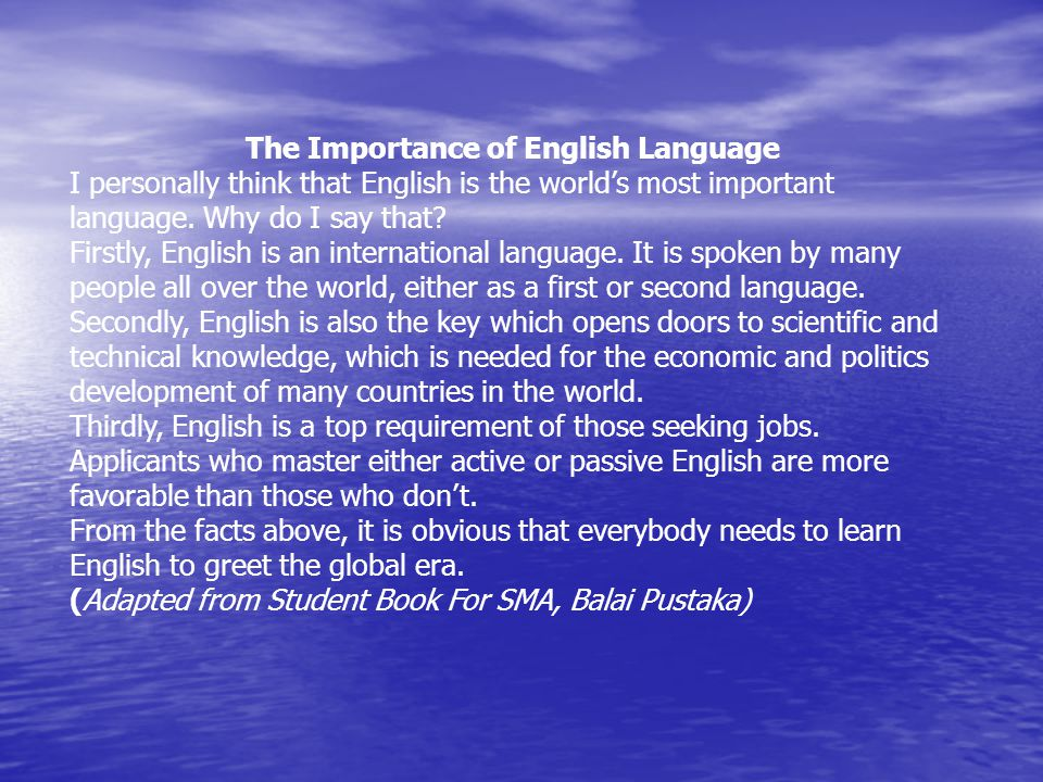The Importance of English Language
