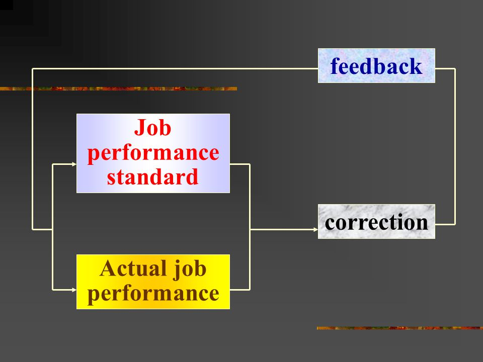 Job performance standard Actual job performance